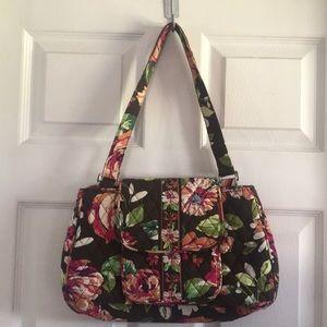 Vera Bradley Winter Rose print handbag EUC